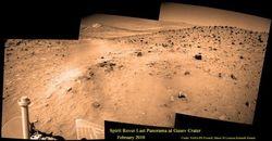 Марсоход НАСА Spirit отмечает свое десятилетие на Марсе