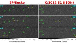 НАСА показало новые снимки комет ISON и Энке