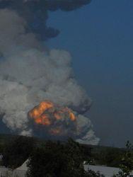 В Донецке взорвались склады с химией