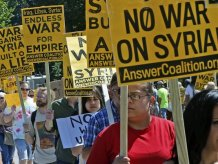 Противники войны с Сирией запустили ролик по телеканалам США