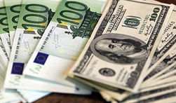 Снижение евро к доллару на Forex достигло отметки 1.2650