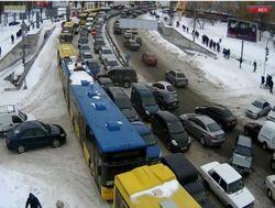 Яндекс.Пробки: ситуация в Киеве достигла 10 баллов