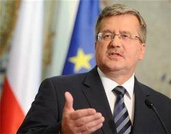 Коморовский назвал «полной чушью» заявления, что Польша бросила Украину