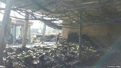 Выяснилась причина пожара на Ташкентском рынке