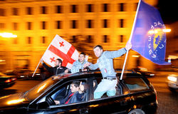 """В Грузии сторонники """"Грузинской мечты"""" празднуют победу Маргвелашвили"""