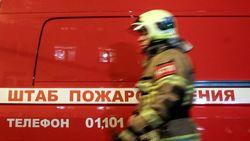 Пожар на складе боеприпасов в Калиновке