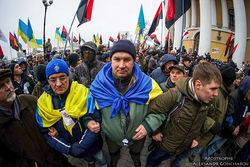 Сторонники Саакашвили у Октябрьского дворца