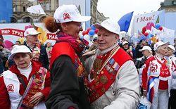 На первомайскую демонстрацию в Москве вышло 140 тысяч человек