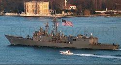 Ночью в Черное море войдет ракетный фрегат США Taylor
