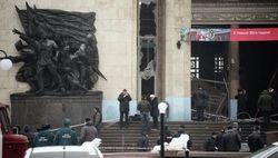 Волгоградский вокзал после взрыва