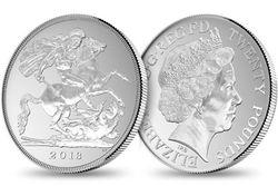 Серебрянная монета 20 фунтов