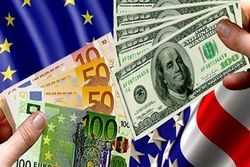 Рост курса евро к доллару на Forex приостановился