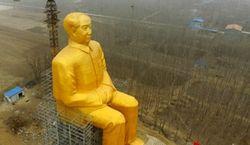 В китайском селе возвели 36-метровую статую Мао Цзэдуна