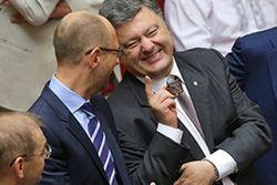 Яценюк: у нас с Порошенко разногласий нет. Но есть перетягивание каната