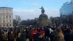 В Киеве и Львове прошли митинги в поддержку Национальной полиции