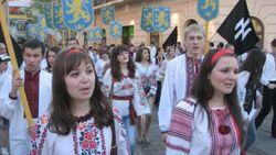 Призывы не подействовали, во Львове прошел марш СС «Галичина»