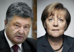 Порошенко снова созвонился с Меркель из-за ситуации на Донбассе