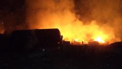 На YouTube появилось видео взрыва вагонов под Ростовом