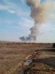 Взрыв САУ на полигоне под Ростовом уничтожил десяток боевых машин
