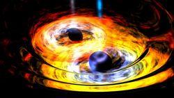 НАСА: ученые засняли сливающиеся сверхмассивные черные дыры