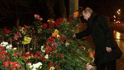 В. Путин возложил цветы на месте теракта