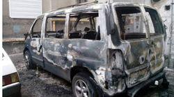 В Харькове снова сожгли микроавтобус активиста Евромайдана