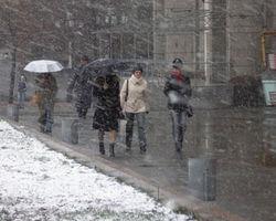 В ближайшие сутки из Вильнюса придут сильный снег и морозы