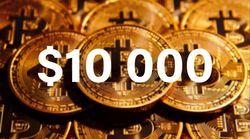 Биткойн стремится к 10000 долларам