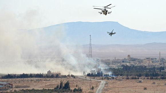РФусилила роль авиации воперации поосвобождению Пальмиры