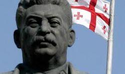 В Грузии снесли памятник Сталину, установленный несколько месяцев назад