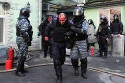 """""""Беркут"""" зачищает центр Киева"""