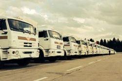 Русские КамАЗы остановились в 35 км от границы в Ростовской области