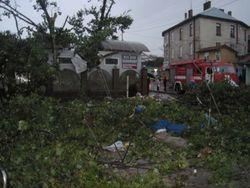 В Самборе под Львовом прошел ураган – последствия