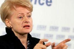 Грибаускайте: ЕС должен помочь Украине защититься