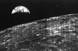 В Сети показали первое фото Земли, сделанное с Луны