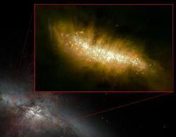 Астрономы зафиксировали самый большой всплеск звездообразований в галактике М82