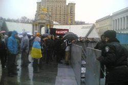 В Киеве спецназ освободил место для новогодней елки - причины