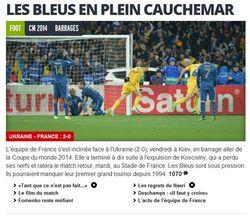 Во Франции не верят в способность своей сборной отыграться после фиаско в Киеве