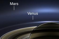 """Семейное фото"" Земли, Марса и Венеры от Кассини"