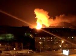 В Казани пылает завод по производству пороха