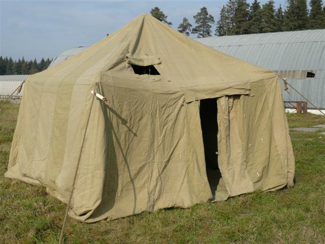 Палатка восьмиместная брезентовая 4 х 4 м кв. Палатка рентгеновская каркасная (ПРК).