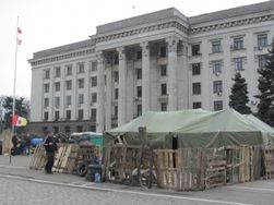 В Одессе антимайдан на Куликовом поле разросся до 10 палаток