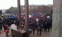 Из-за митингов сепаратистов на Востоке Турчинов отменил визит в Литву