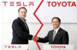 Toyota прекратила сотрудничество с Tesla и продала все ее акции