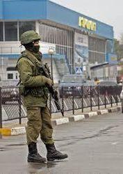Военные на улицах Крыма