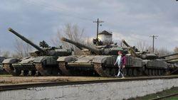 Захваченная у украинской армии в Крыму техника