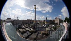 На Майдане – стрельба и горящие шины, есть травмированные с обеих сторон