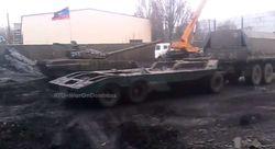 Боевики под Донецком обустроили базу военной техники