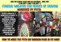 В мире к посольствам РФ несут похоронные венки