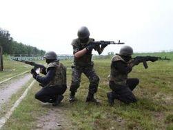 Бойцы Нацгвардии вышли на митинг в центре Киева